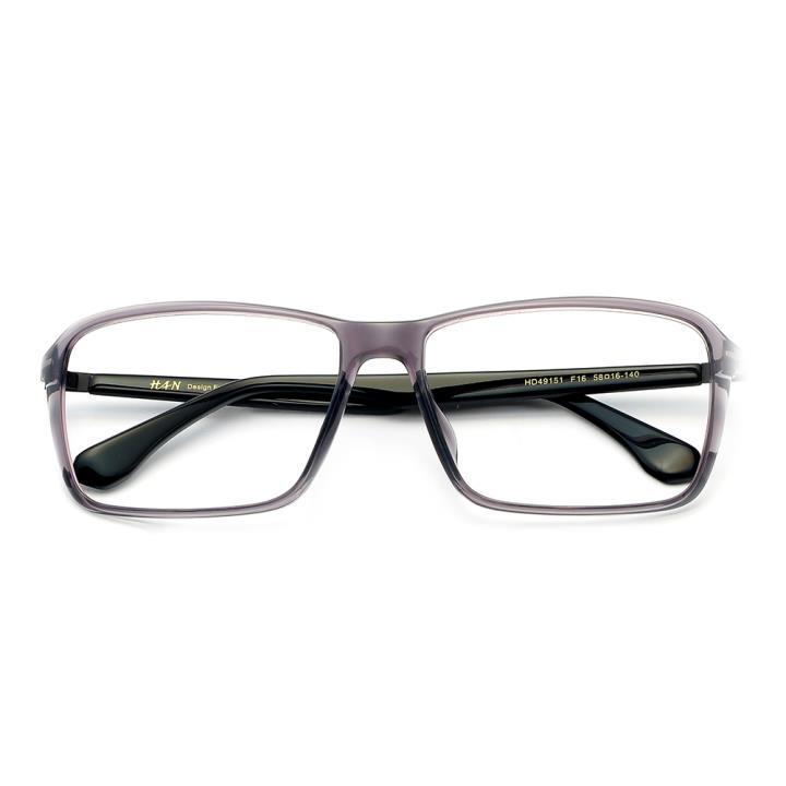 HAN MEGA-TR钛塑板材光学眼镜架-低调浅灰(HD49151-F16)