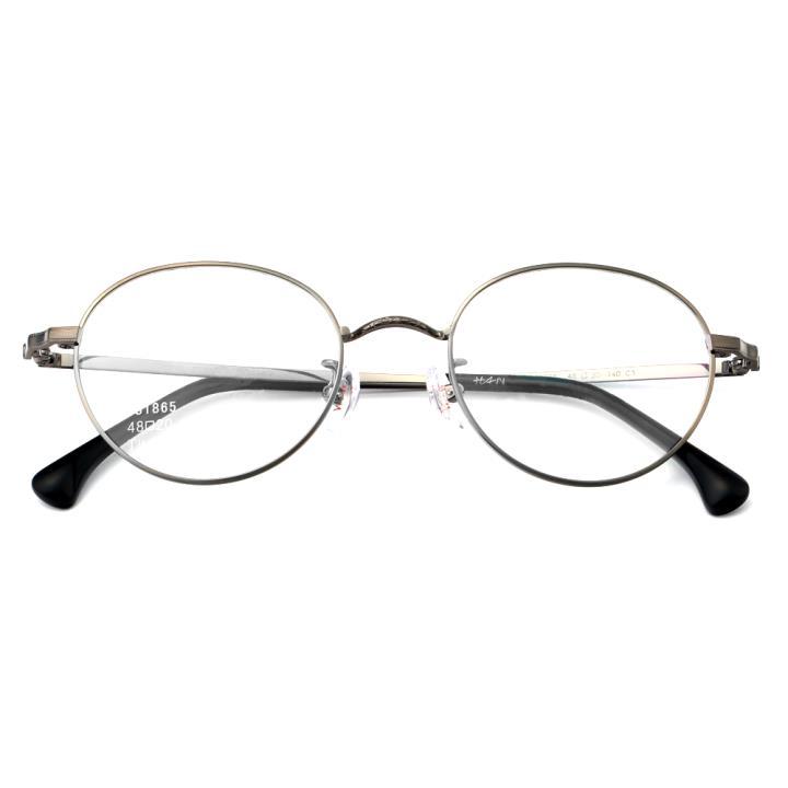 HAN纯钛光学眼镜架-枪色(J81865-C3 )