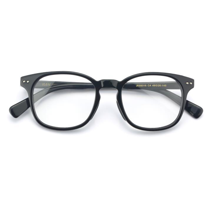 HAN SUNGLASSES板材太阳眼镜架-黑色框(JK59316-C4)可配近视镜片
