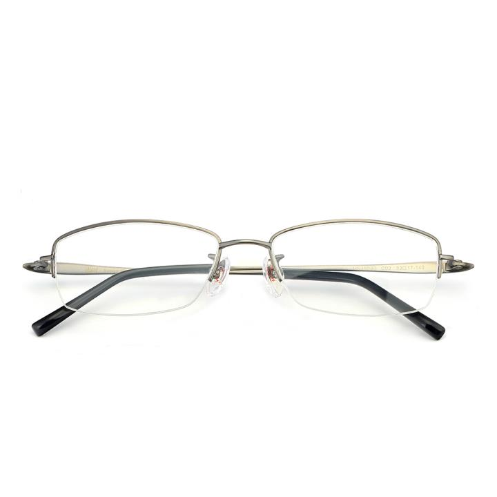 HAN纯钛光学眼镜架-睿智枪灰(HN49388-C02)