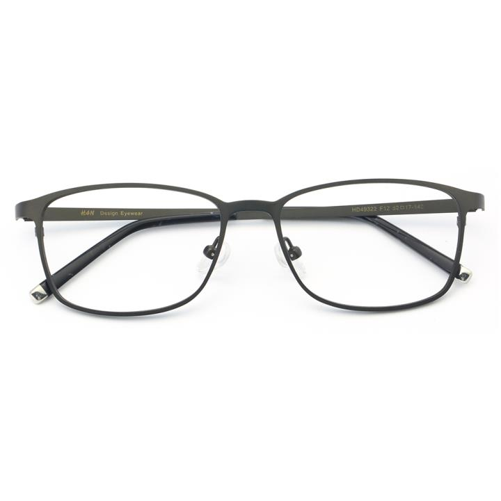 HAN时尚不锈钢光学眼镜架-枪灰色(HD49322-F12)