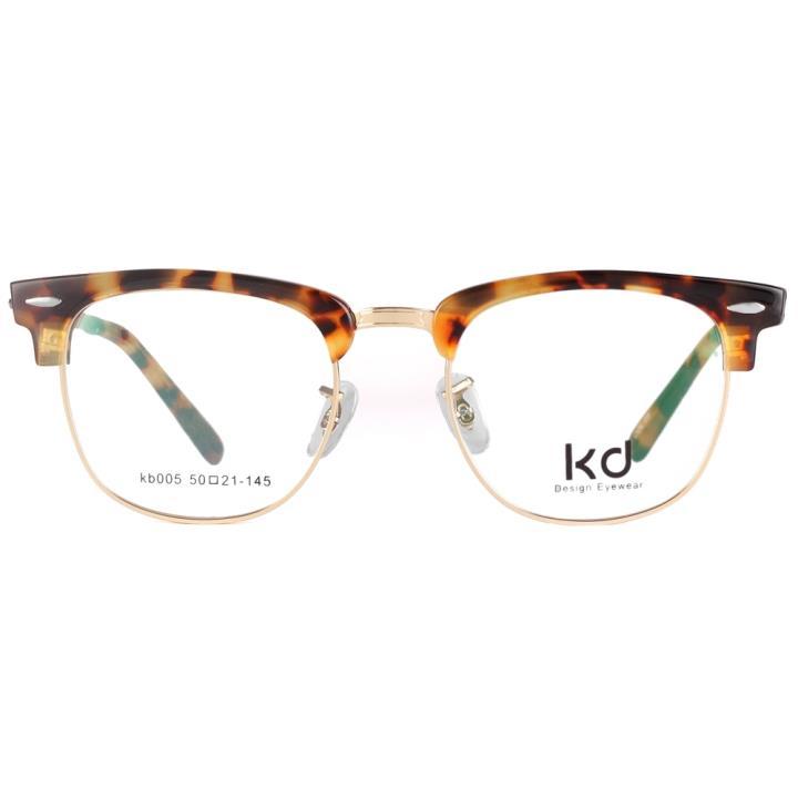 KD设计师手制复古板材金属眼镜架kb005-C3