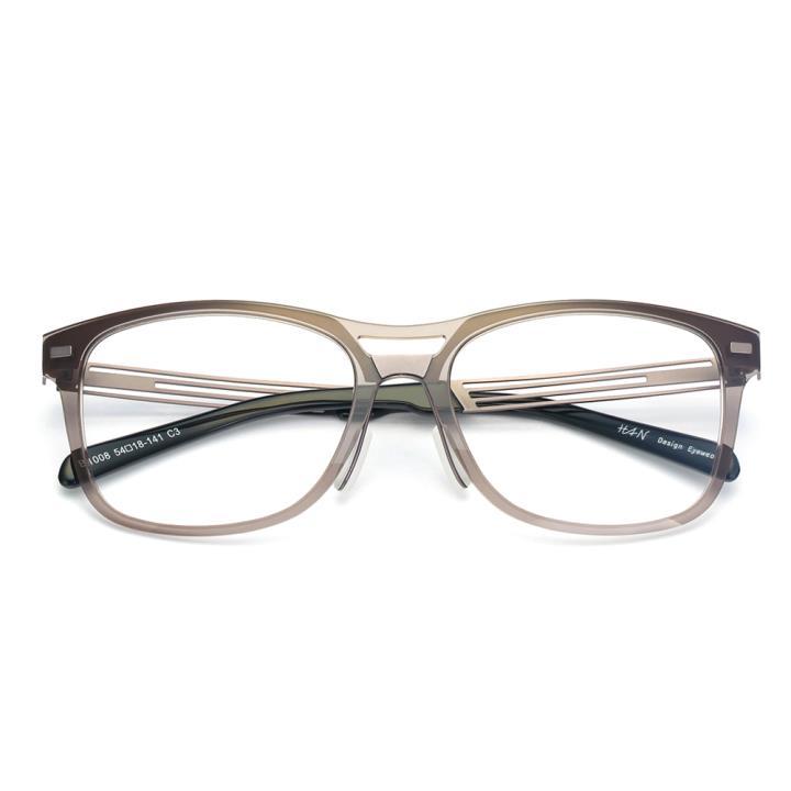 HAN尼龙时尚光学眼镜架-灰色(B1008-C3)