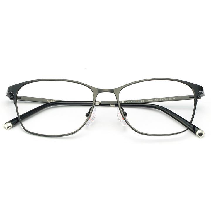 HAN时尚纯钛光学眼镜架-经典纯黑(HD49144-F01)