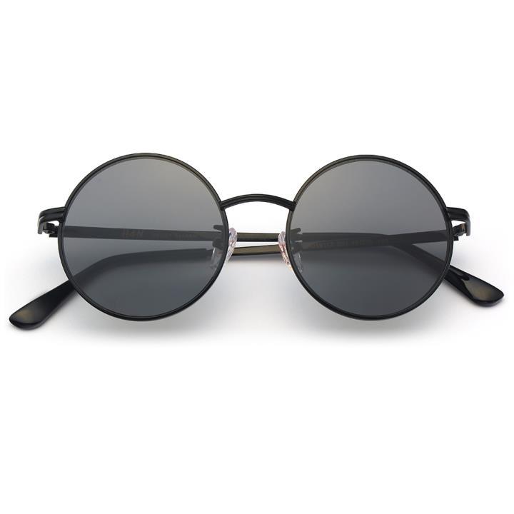 HAN不锈钢白铜防紫外线太阳镜-黑框灰片(HD59117-S01)