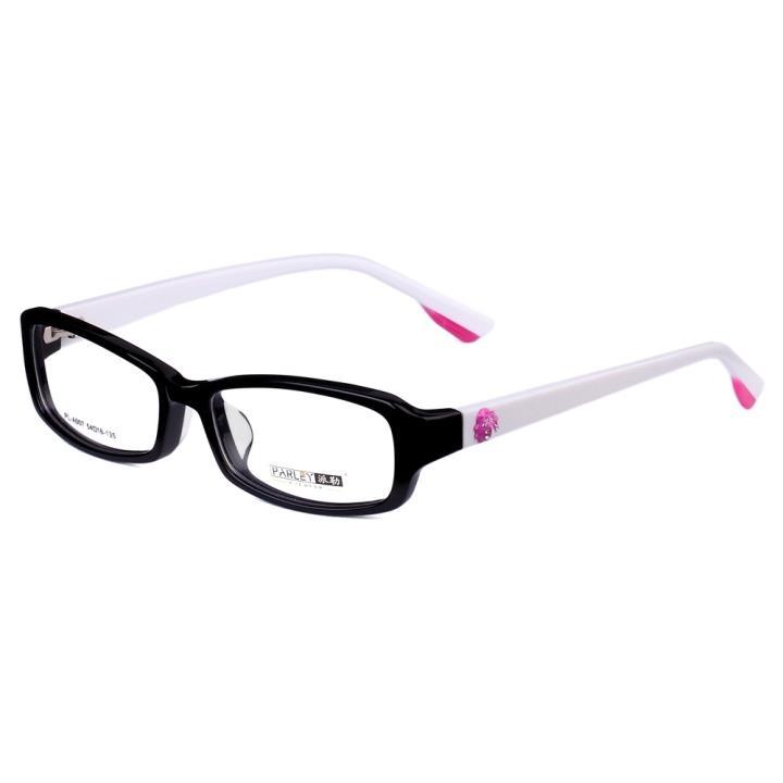 PARLEY派勒板材眼镜架-黑框白腿(PL-A007-C2)