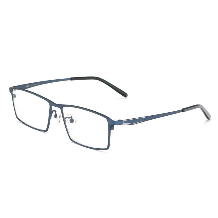 HAN纯钛光学眼镜架-时尚深蓝(HN49376-C02)