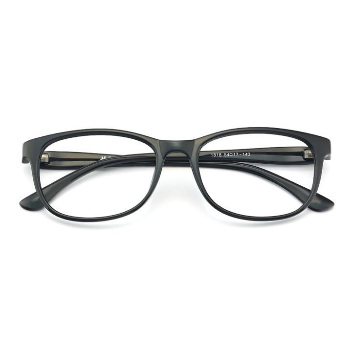 HAN MEGA-TR钛塑光学眼镜架-亮黑色(1818-C1)