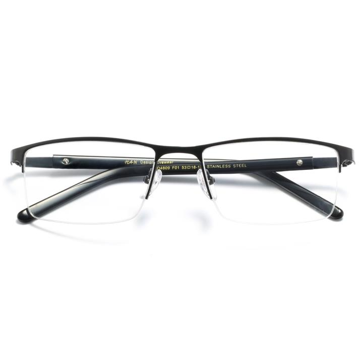 HAN时尚光学眼镜架HD4809-F01 经典亮黑