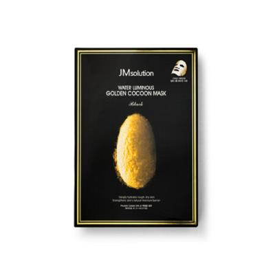 JMSOLUTION 黄金蚕丝玻尿酸精华美白保湿面膜 10片/盒  海淘专享