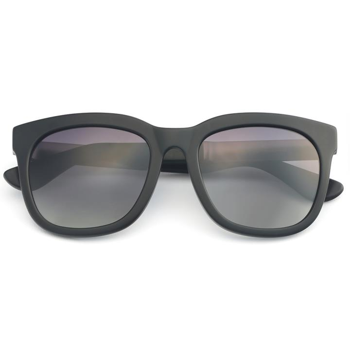 HAN板材偏光太阳镜-哑黑框渐进灰片(HN59351-C2)