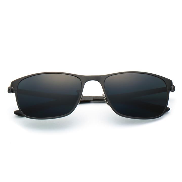 HAN时尚纯钛偏光太阳镜-黑框墨绿片(HD5825-S01)