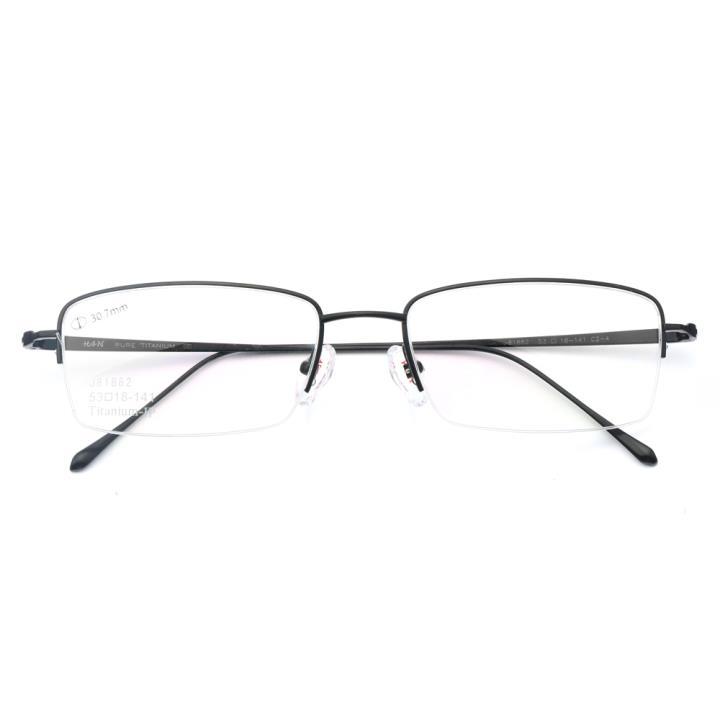 HAN纯钛光学眼镜架-纯黑(J81882-C2-4)