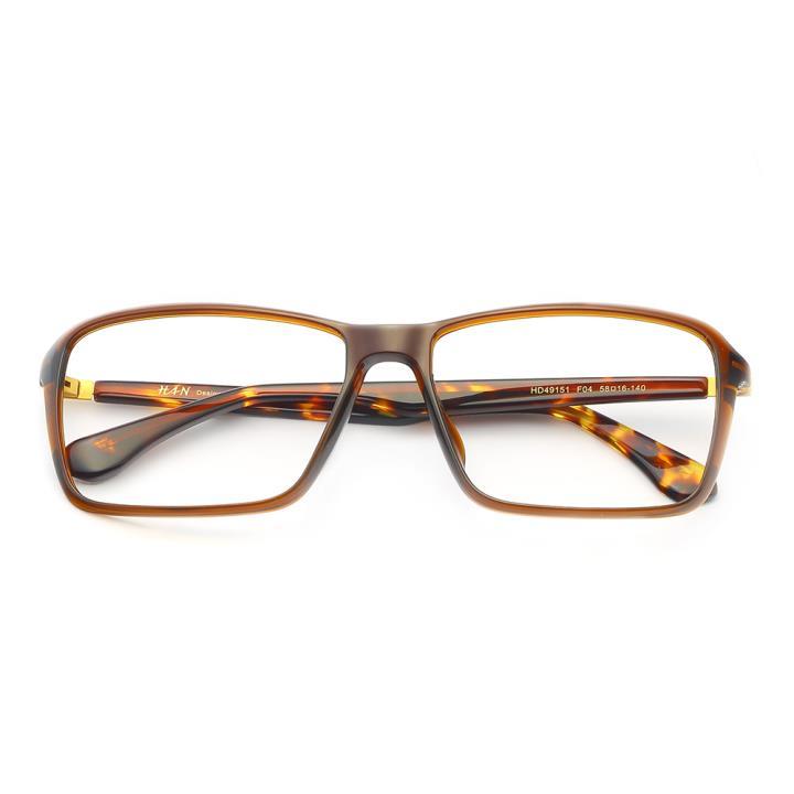 HAN MEGA-TR钛塑板材光学眼镜架-优雅暗棕(HD49151-F04)