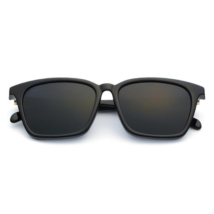 HAN时尚偏光太阳镜HD5812-S01 黑框黑灰片