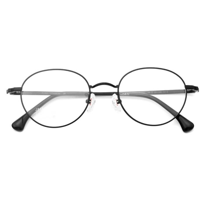 HAN纯钛光学眼镜架-黑色(J81865-C2-4 )