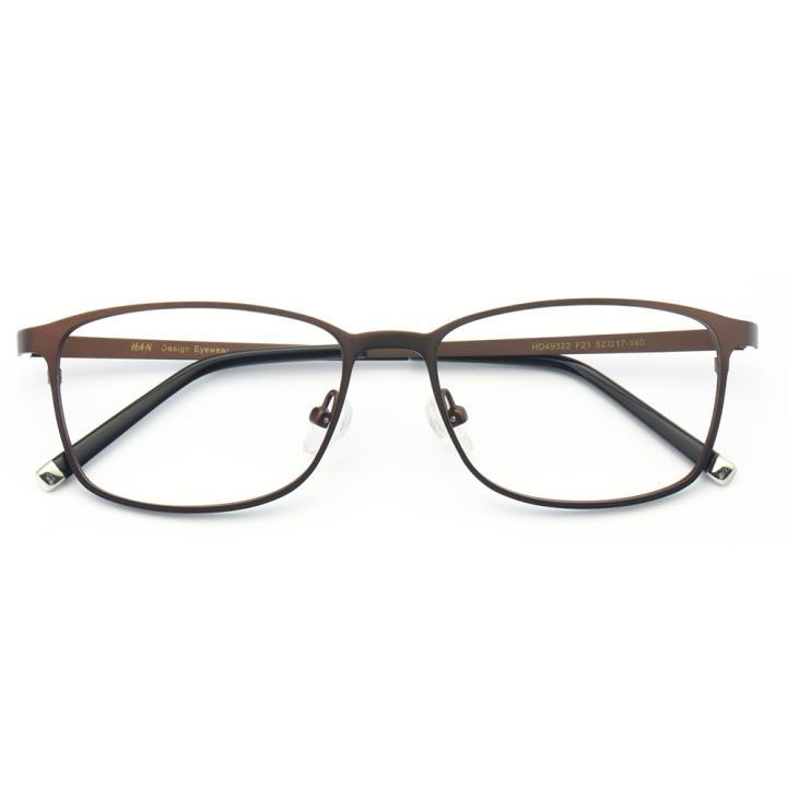 HAN时尚不锈钢光学眼镜架-咖啡色(HD49322-F21)