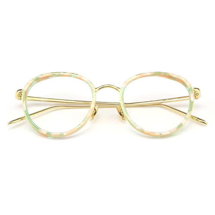 HAN板材金属光学眼镜架-粉玳瑁(HD49305-F22)