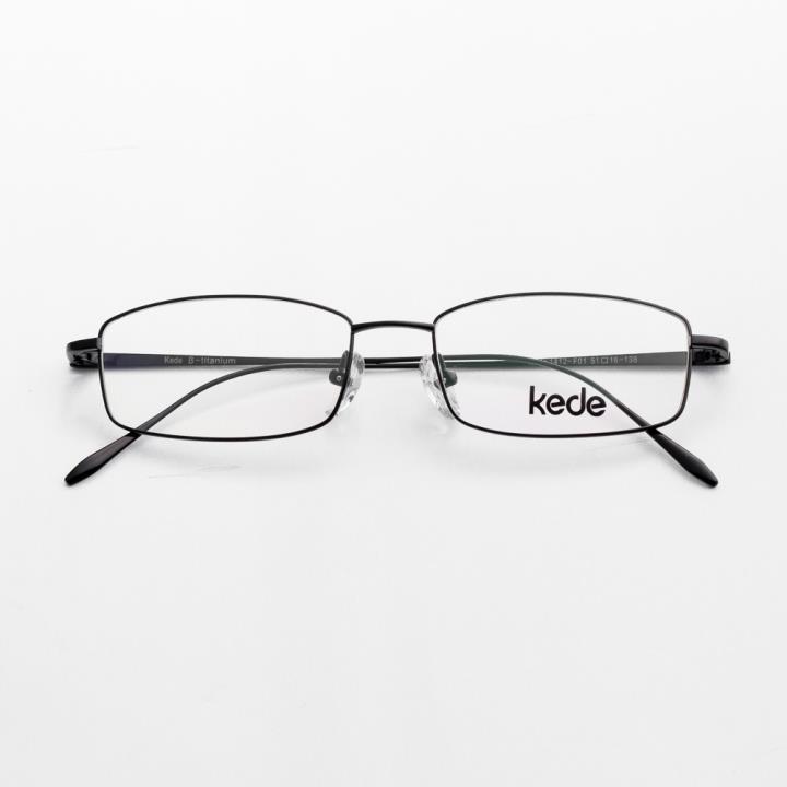 Kede纯钛光学眼镜架Ke1412-F01  亮黑
