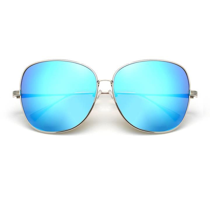 HAN时尚防紫外线太阳镜HD59303-S07 银框蓝色片