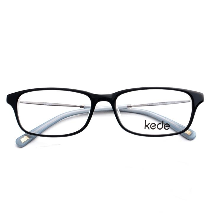 Kede时尚光学眼镜架Ke1441-F16  黑灰色