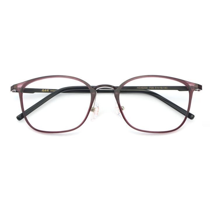 HAN MEGA-TR钛塑不锈钢光学眼镜架-典雅紫色(HD49200-F08)