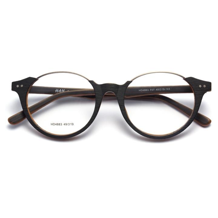 HAN时尚光学眼镜架HD4883-F07 外黑内棕