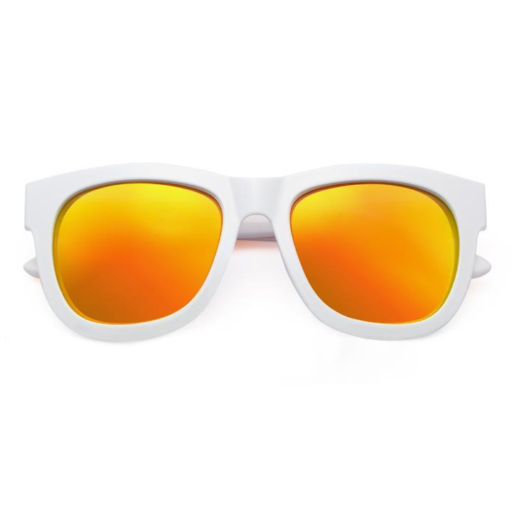 HAN CX尼龙防紫外线太阳镜-白框橘色片(HD59110-S11)