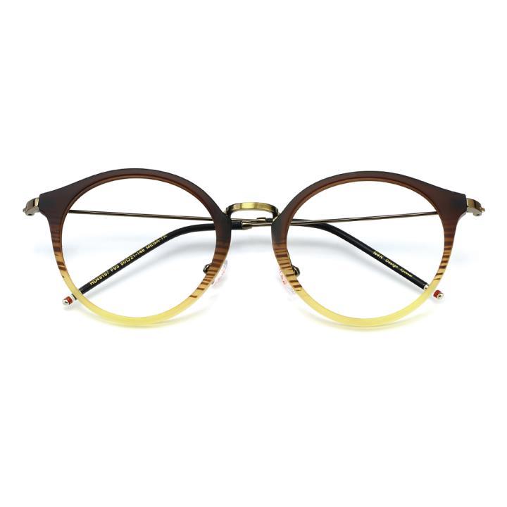 HAN MEGA-TR钛塑光学眼镜架-渐进棕(HD49167-C3)