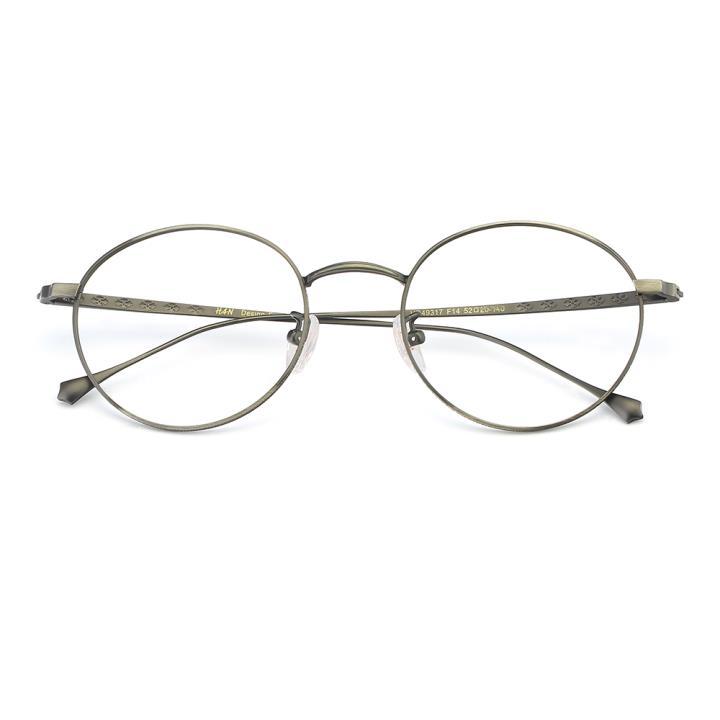 HAN纯钛光学眼镜架-哑枪色(HD49317-F14)