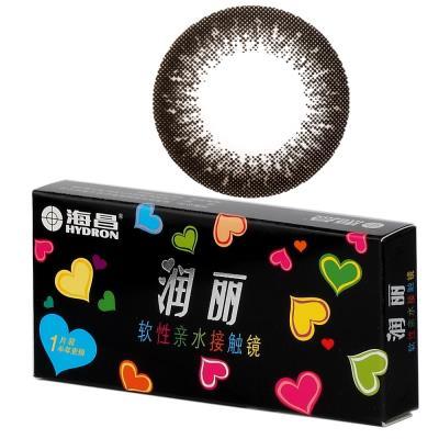 海昌润丽半年抛彩色隐形眼镜1片装-黑色(新老包装随机发货)