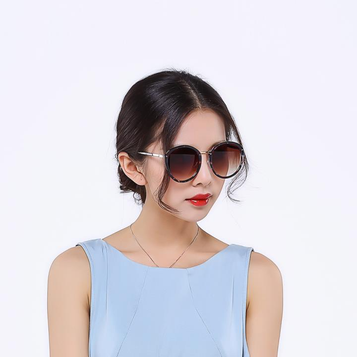 HAN时尚防紫外线太阳镜HD59301-S03 玳瑁框渐进茶片
