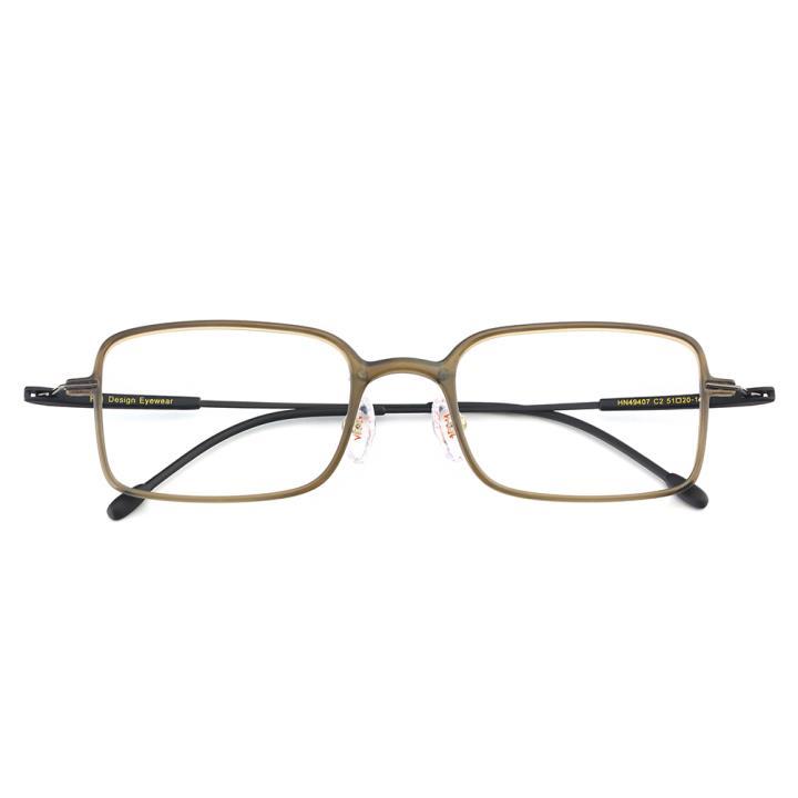 HAN TR金属光学眼镜架-优雅纯灰(HN49407-C2)