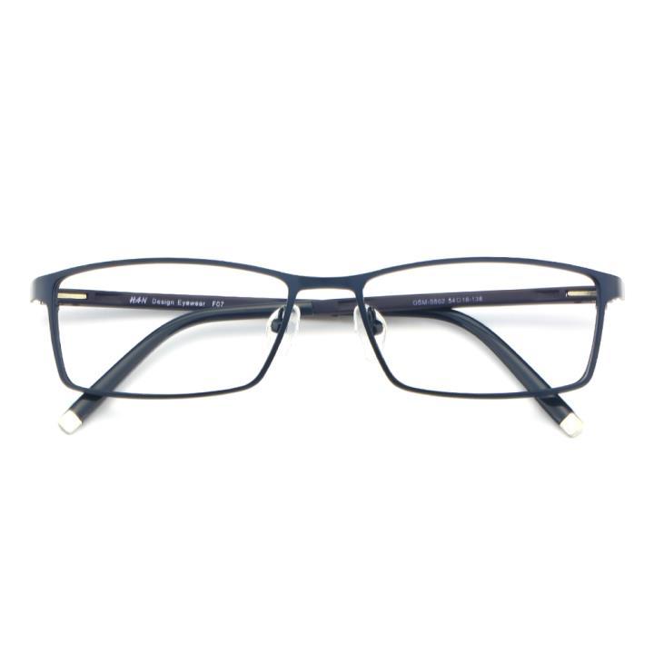 HAN金属TR光学眼镜架-深蓝色(602-F07)