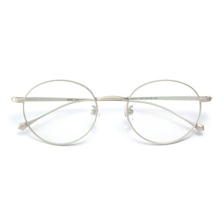 HAN纯钛光学眼镜架-银色(HD49317-F09)