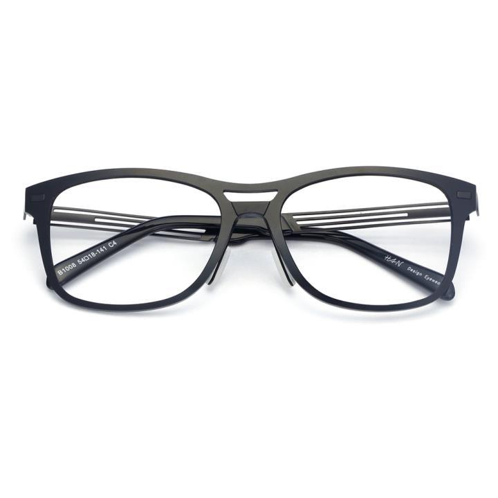 HAN尼龙时尚光学眼镜架-黑色(B1008-C4)
