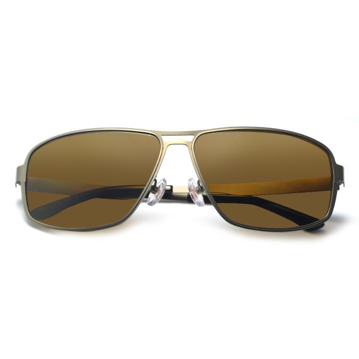 HAN不锈钢板材防紫外线太阳镜-枪框棕灰片(HD5903-S12)