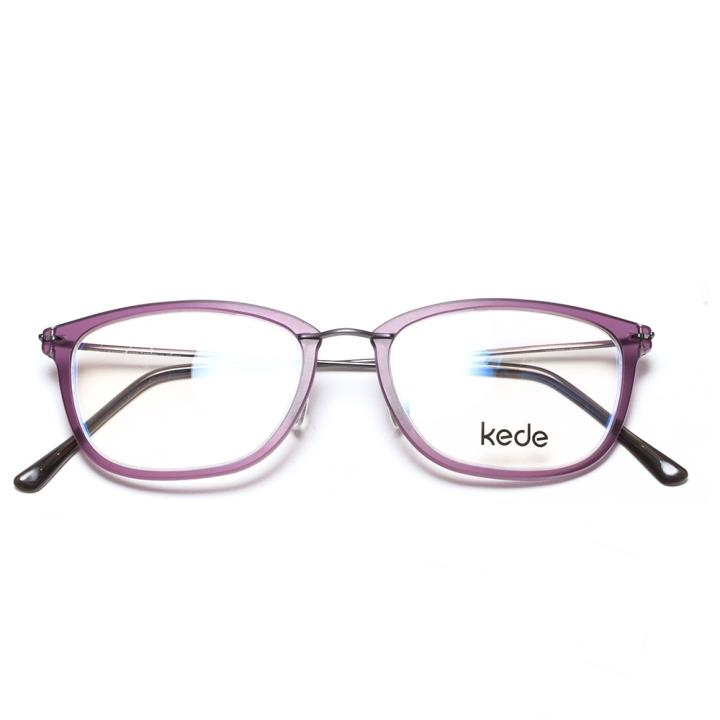 Kede时尚光学眼镜架Ke1452-F07 亮紫