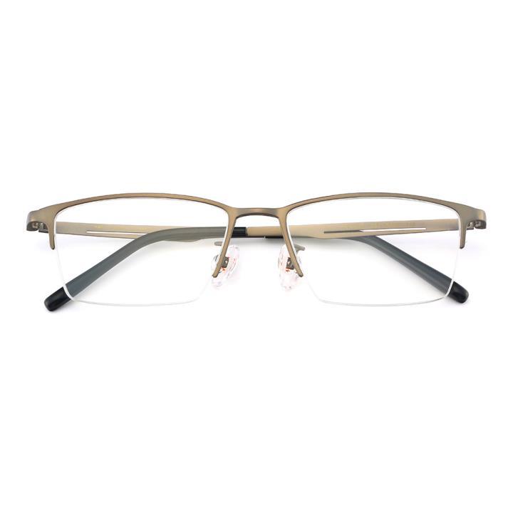 HAN纯钛光学眼镜架-气质枪灰(HN49371-C02)