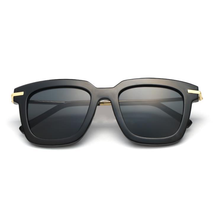 HAN时尚防紫外线太阳镜HD59300-S01 黑框黑灰片