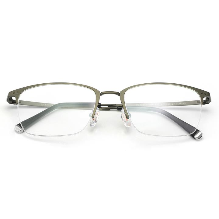 HAN纯钛光学眼镜架-哑枪色(HD49141-F09)