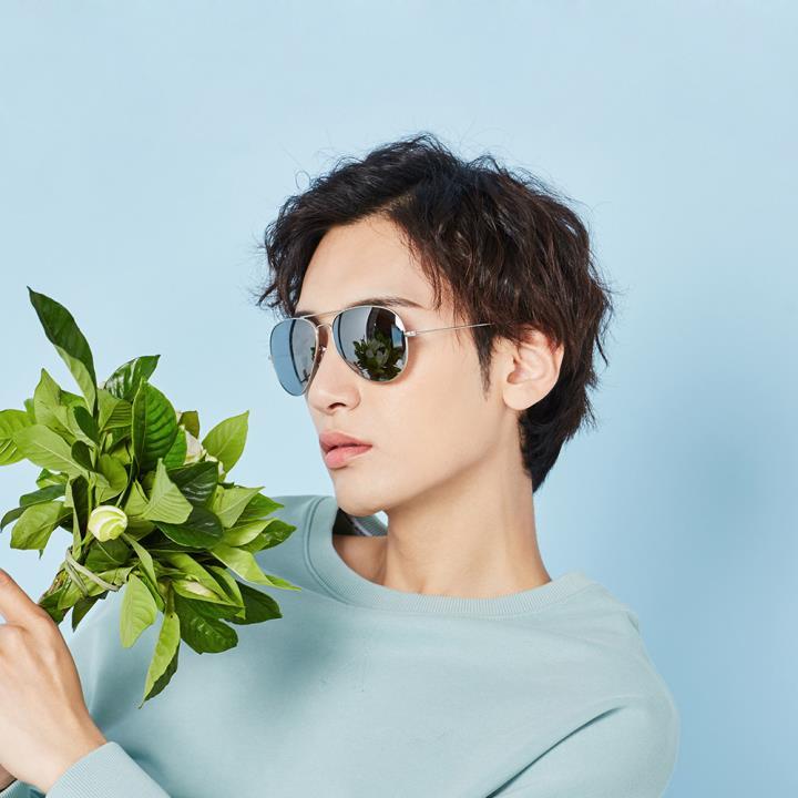 HAN时尚偏光太阳镜HD59312L-S09 炫酷水银(大号)