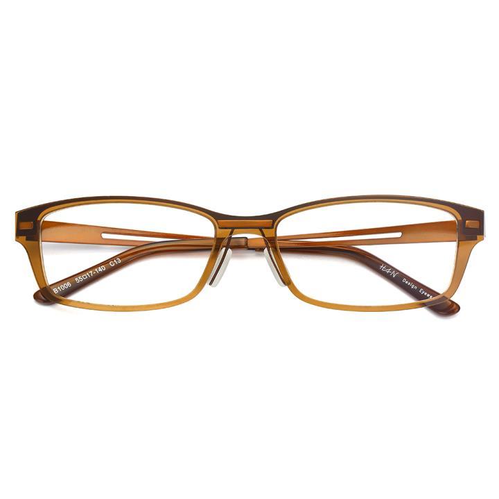 HAN尼龙不锈钢光学眼镜架-典雅茶色(B1006-C13)