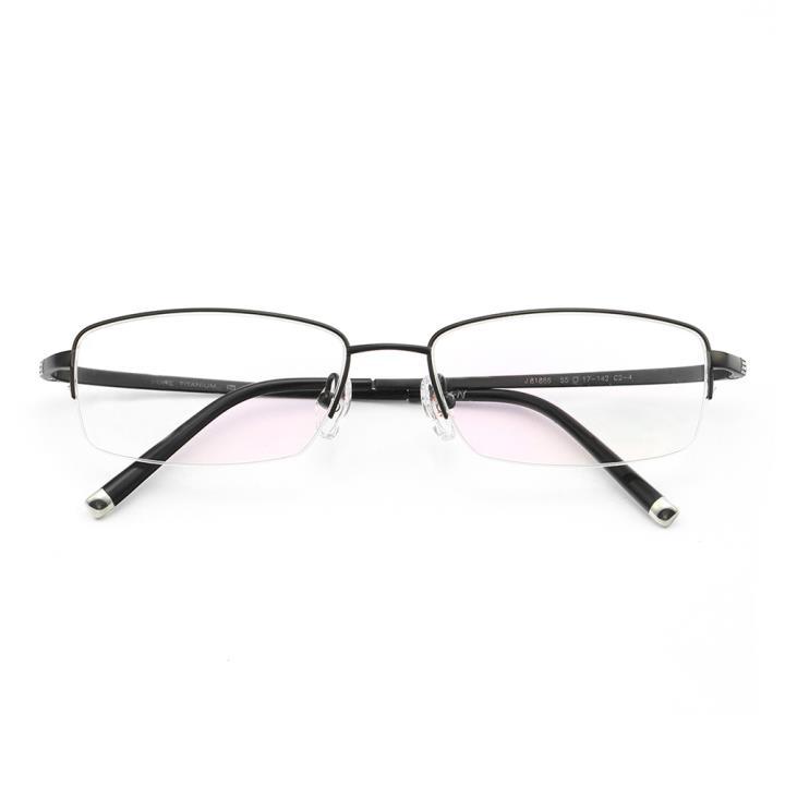 HAN纯钛光学眼镜架J81886-C2-4经典纯黑
