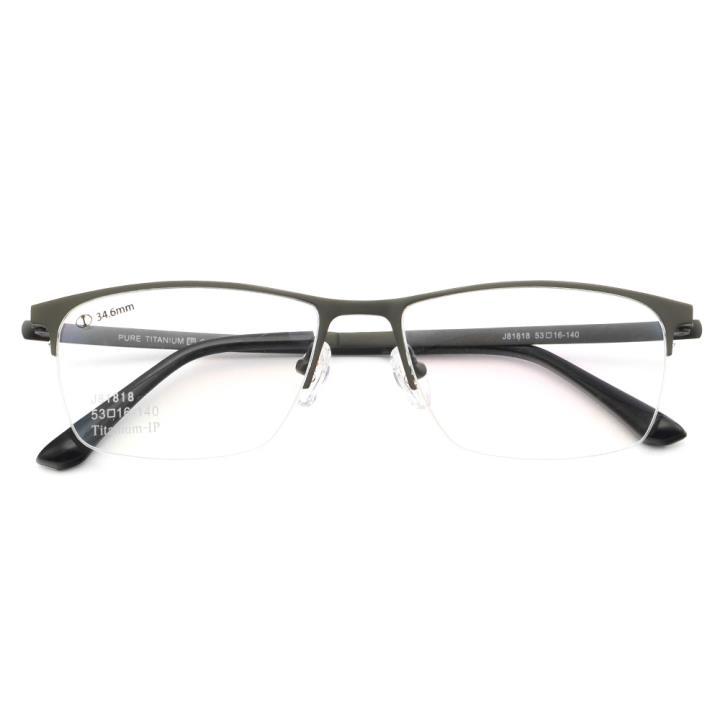 HAN纯钛光学眼镜架J81818-C3低调哑枪
