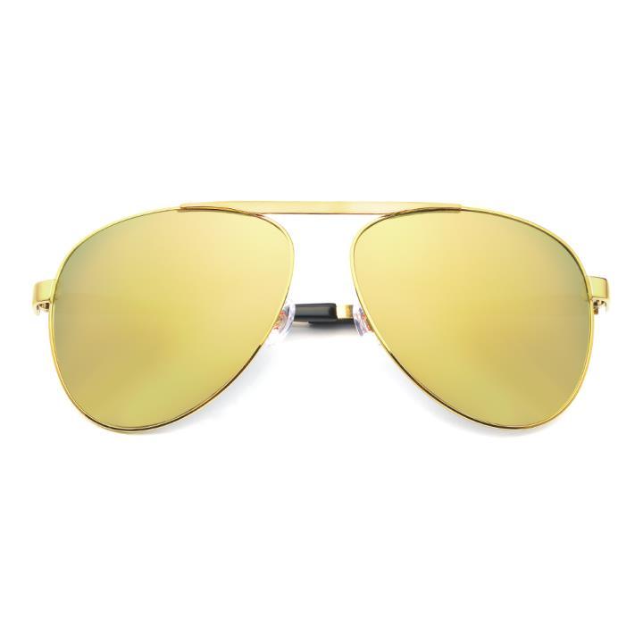 HAN RAZR-X9 白铜不锈钢偏光太阳眼镜-金框金色片(HD59123 C2)