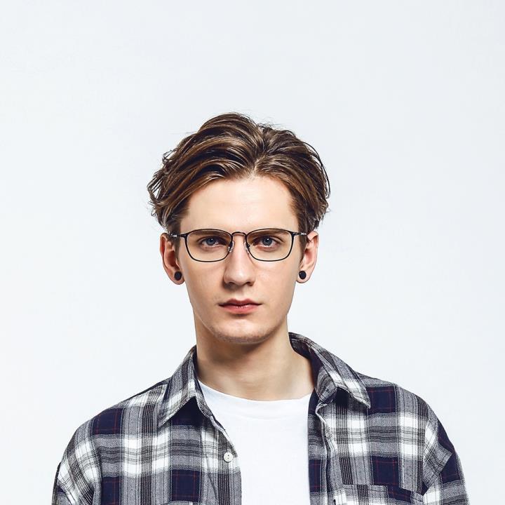 HAN纯钛光学眼镜架-经典纯黑(81867-C2-4)