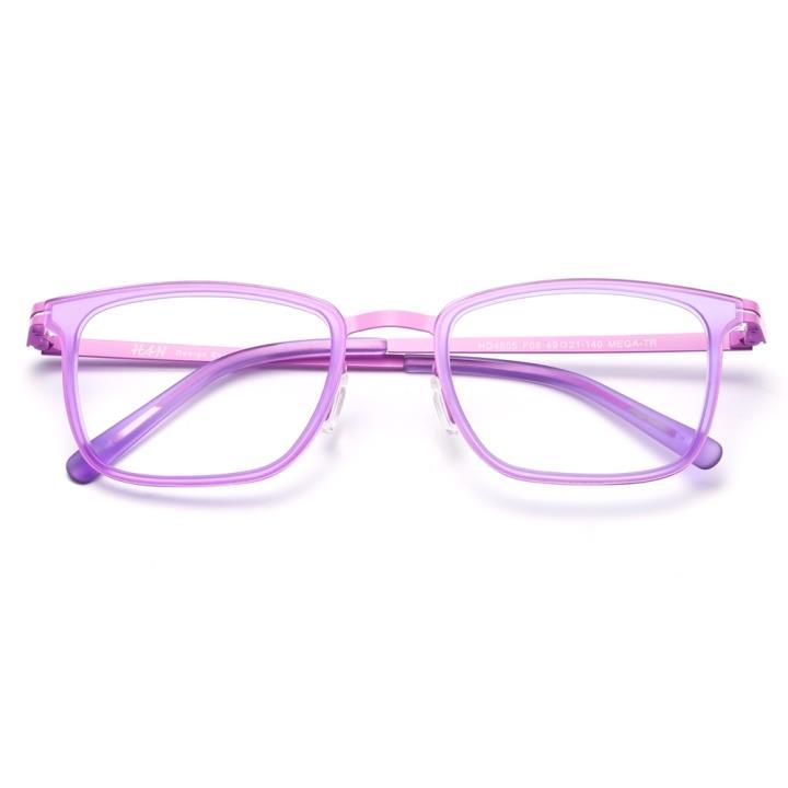 HAN时尚光学眼镜架HD4805-F08 清新粉紫
