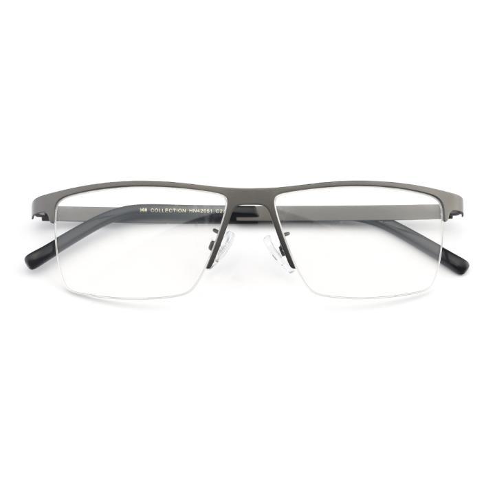HAN COLLECTION不锈钢光学眼镜架-哑枪(HN42051 C2/M)