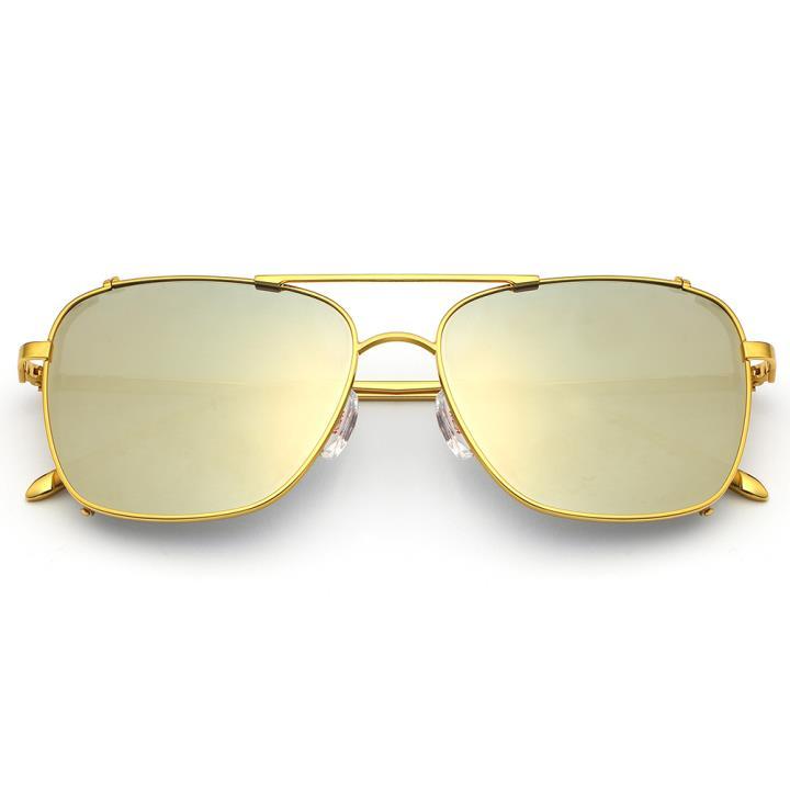 HAN RAZR-X9不锈钢偏光太阳眼镜-金框灰银片(HN51200 C1)